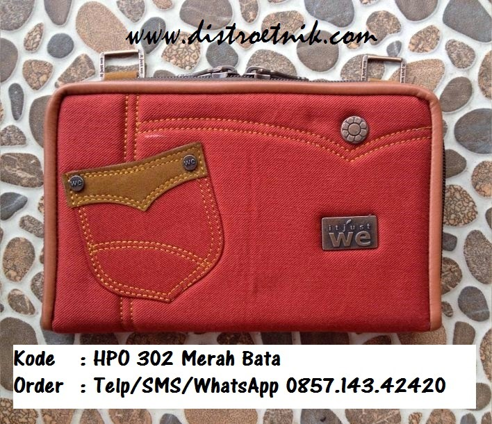dompet hpo jeans it just we hpo 302  merah bata