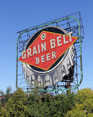Grain Belt beer sign in Minneapolis Minnesota