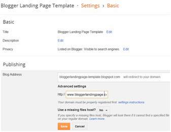 Blogger Landing Page Template