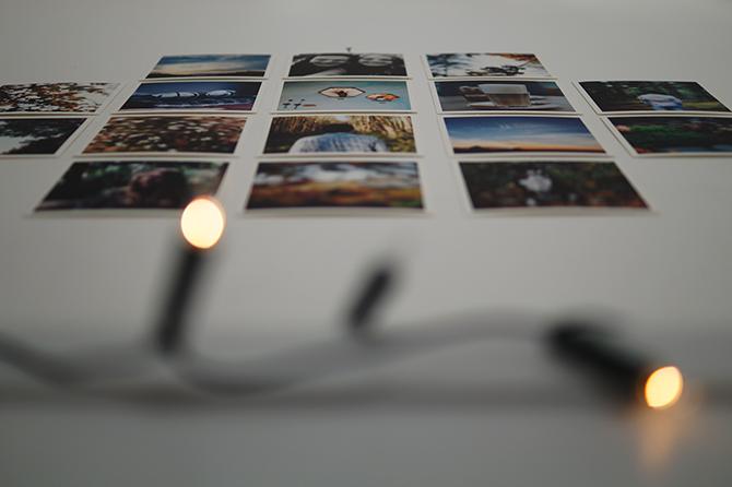 fotomuur met lampjes