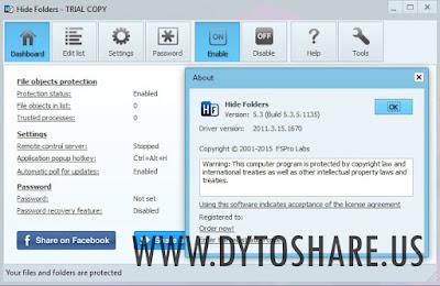 Hide Folders 5.3 Build 5.3.5.1135
