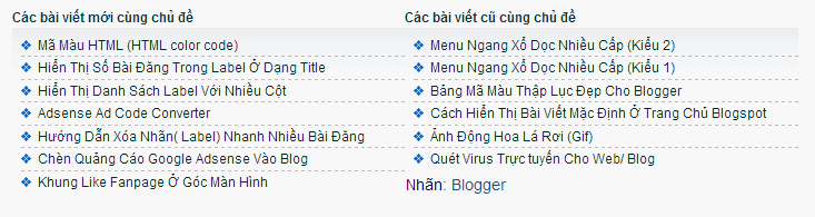 related post blogspot