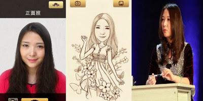 Wanita Cantik Pemilik Aplikasi Mo Man Xiang Ji