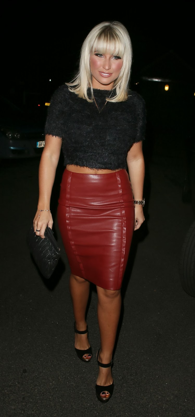 lovely in leather billie faiers in a leather