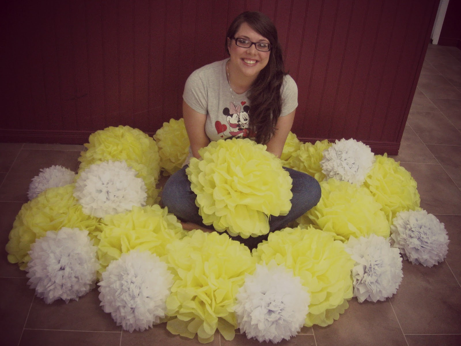 Miss Yellow Shoes Wedding Diy Tissue Paper Flowers