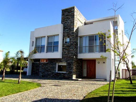 Casas minimalistas y modernas fachadas y frentes de casas for Frentes de casas minimalistas fotos