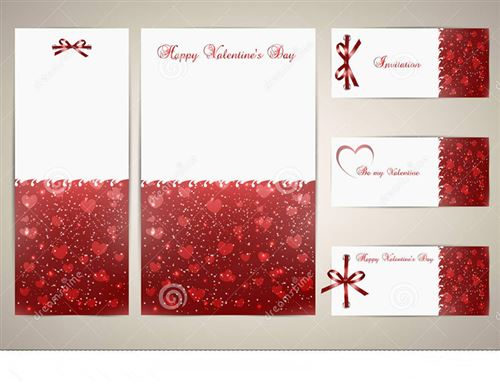 Lovely Valentine's Day Gift Cards Templates