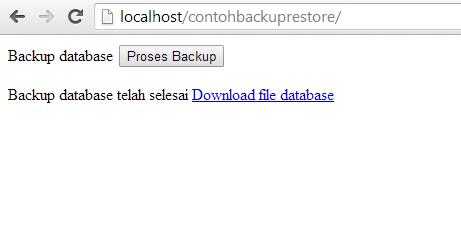 Backup Database MySQL dengan PHP