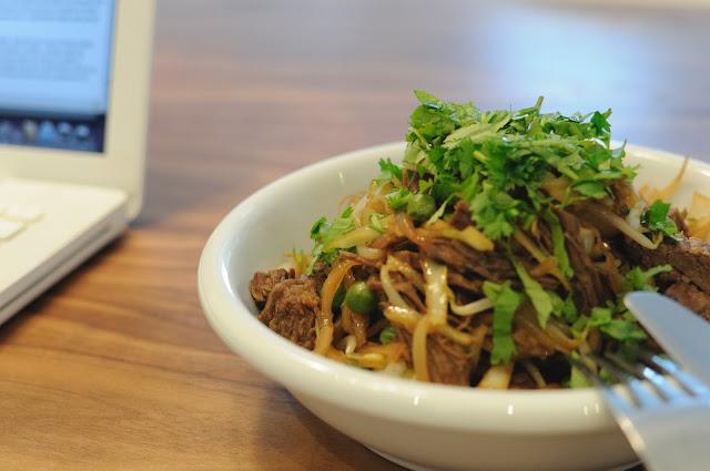 Ázijské varené hovädzie mäso