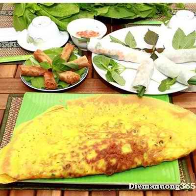 Hấp dẫn đặc sản miền Trung tại quán bánh xèo Bà Hai, món ngon sài gòn, điểm ăn uống 365