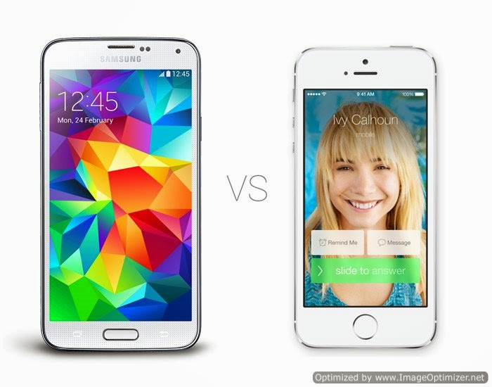Infográfico: Galaxy S5 vs iPhone 5S