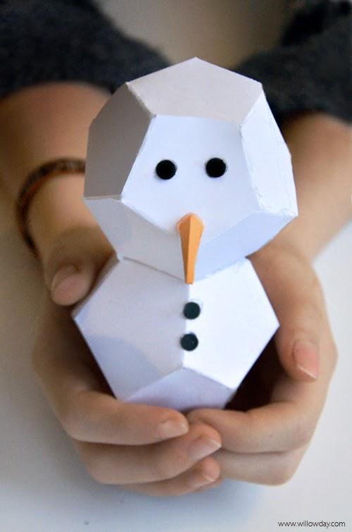 willowdayCut + Fold Paper Snowmen
