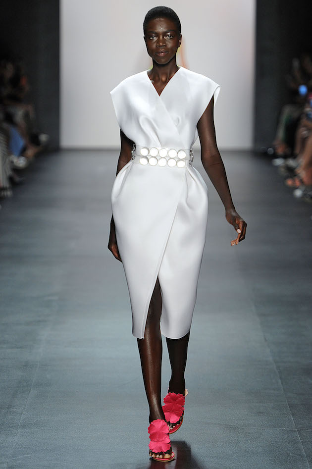 Angel Sanchez Spring 2016 white gazar dress