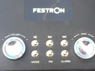 festron audio portable mini - hifi menu tombol