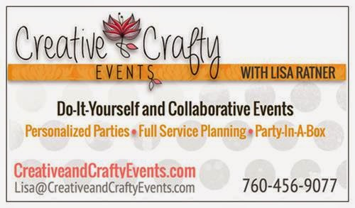 business card for creative and crafty events