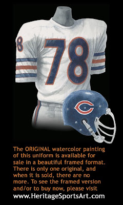 Chicago Bears 1977 uniform