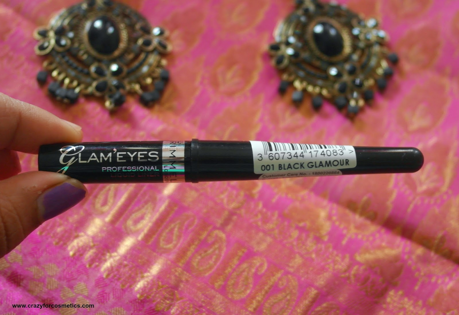 Rimmel London Black Liquid Liner Glam eyes professional eyeliner packaging