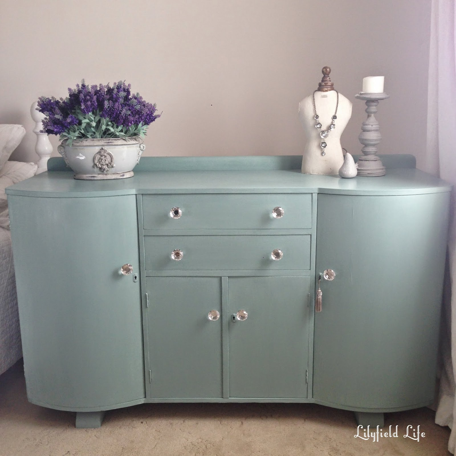 Lilyfield life art deco duck egg blue for Painted buffet sideboard