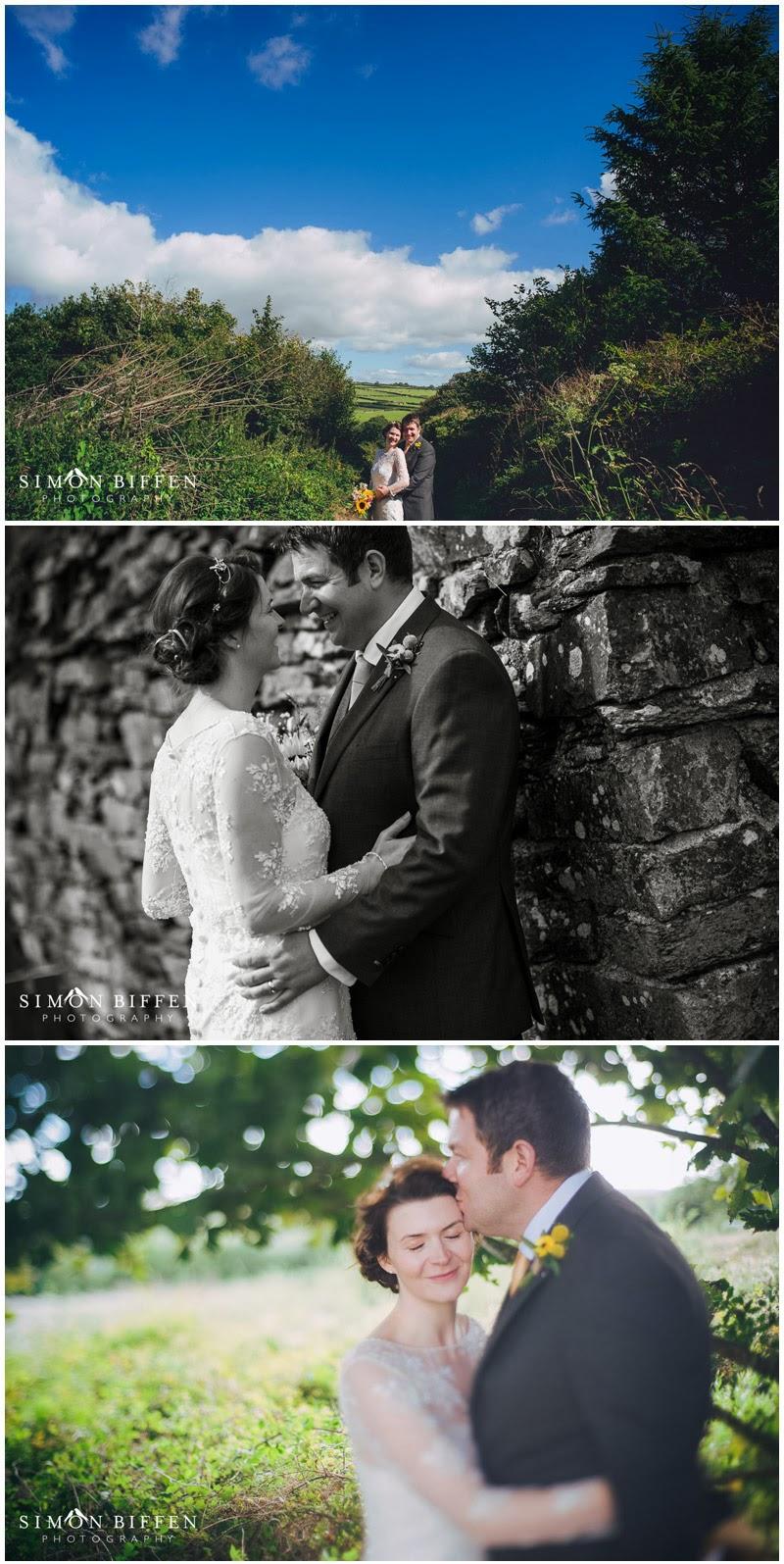 Wedding bride and groom Trevenna Cornwall