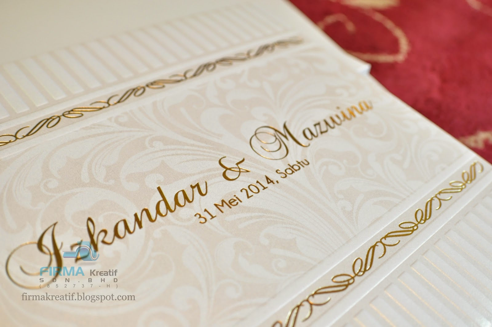 Wedding card hardcover izkandar mazwina firma kreatif sdn bhd wedding card hardcover izkandar mazwina stopboris Gallery