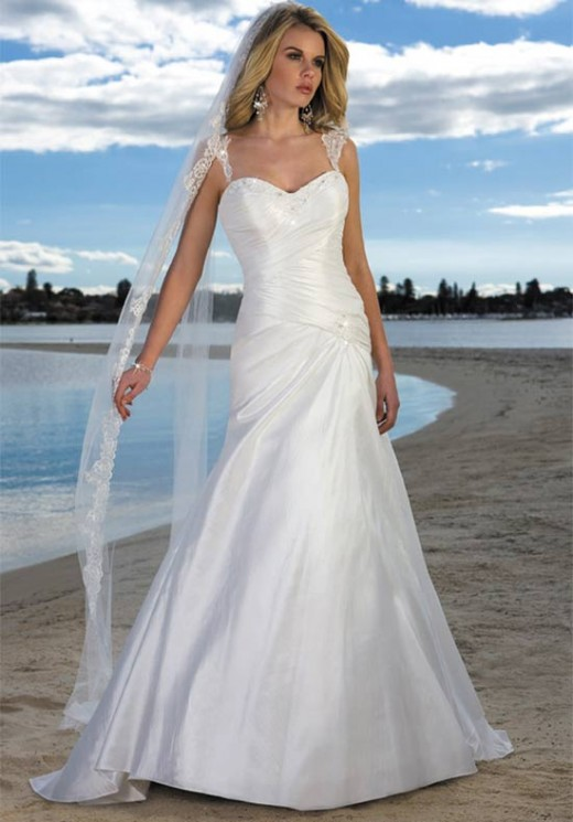 pre owned beach wedding dresses