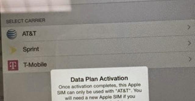 Tính năng chuyển mạng trên iPad Mini 3 bị AT&T khóa