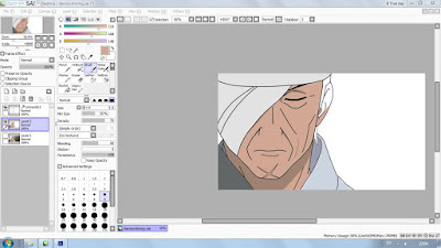 coloring danzo work in progress