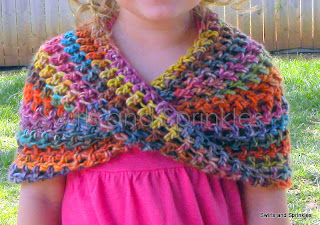 Swirls and Sprinkles: Crochet Summer Infinity Wrap Pattern