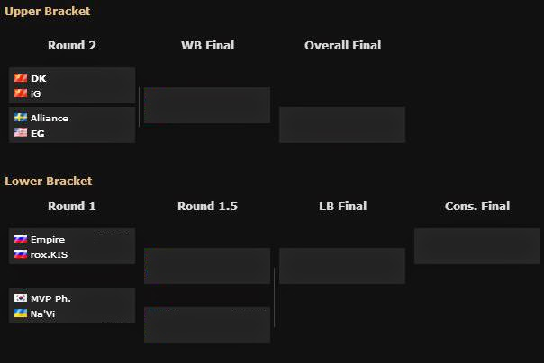 STARLADDER IX LAN FINAL UPPER AND LOWER BRACKET
