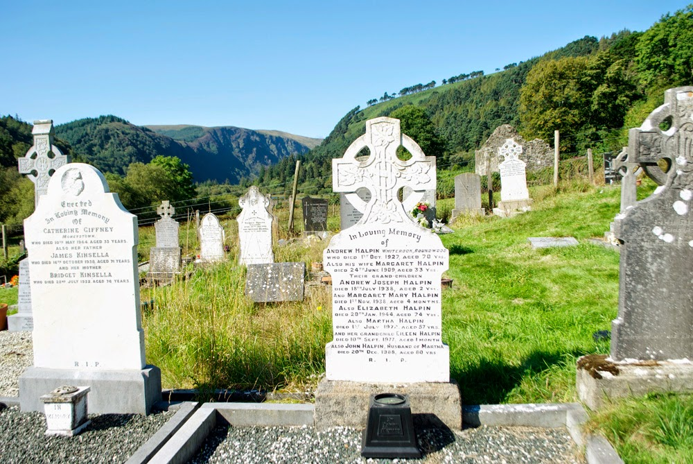 cemetery in wicklow mountains