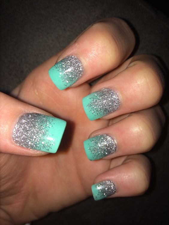 stunning turquoise manis omg love beauty