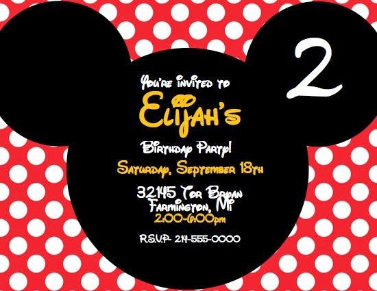Mickey Mouse Party Invitations Personalized was adorable invitation layout