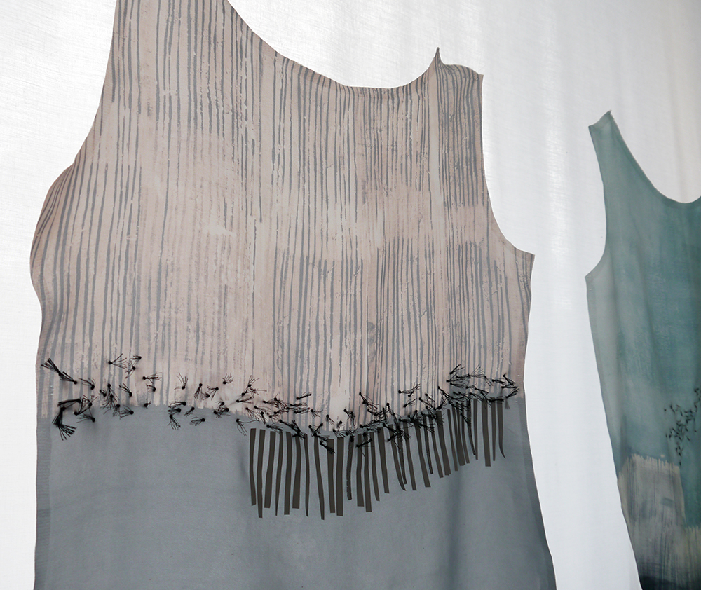DJCAD, Duncan of Jordanstone College of Art and Design, degree show, Dundee, degree show 2015, #djcaddegreeshow, #djcaddegreeshow15, textile design, printed fabric, Vaila Cameron, Sheltand fabric