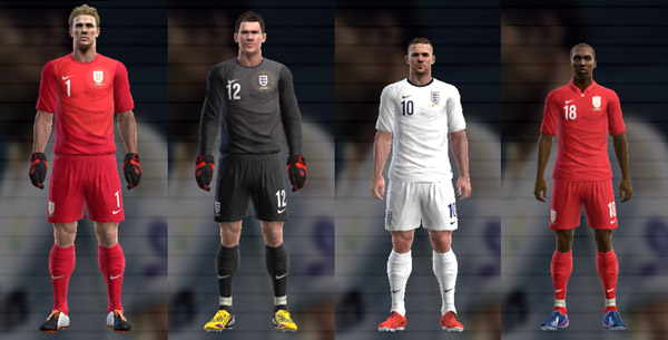 PES 2013 England 13 14 Nike Kit Set by Kpoxx94
