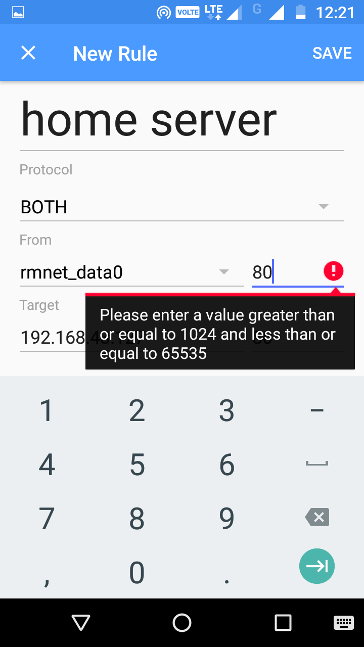 how to port forward using android smartphone via mobile Hotspot or