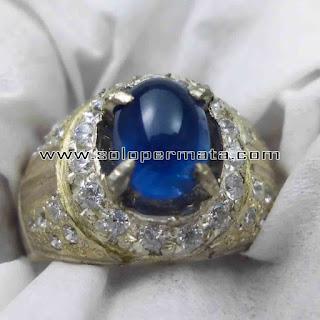Batu Permata | Natural Blue Sapphire Asli | Natural Corundum Warna Biru