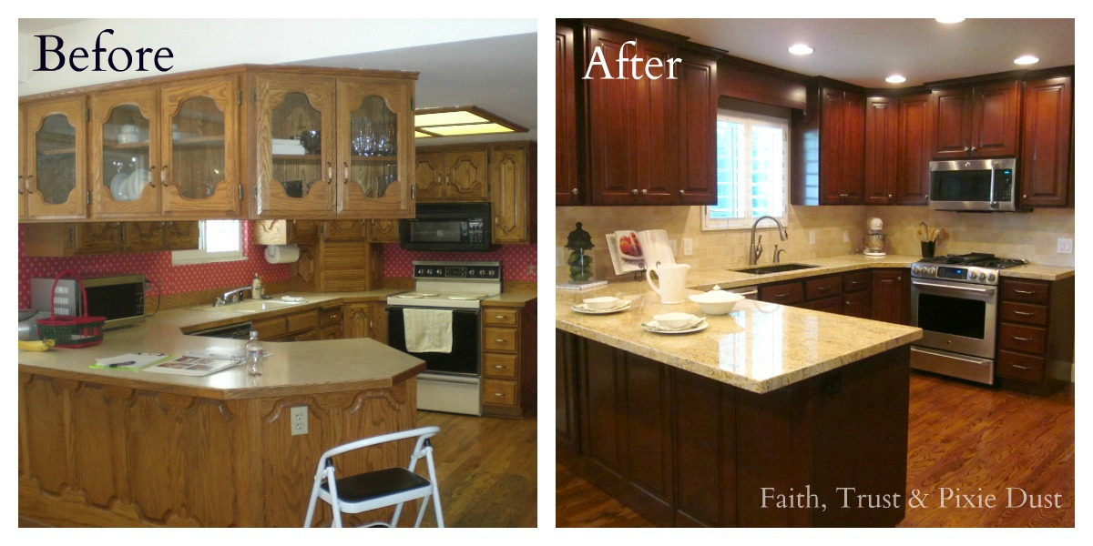 Honey i 39 m home a spectacular kitchen remodel - Remodeling a small kitchen before and after ...