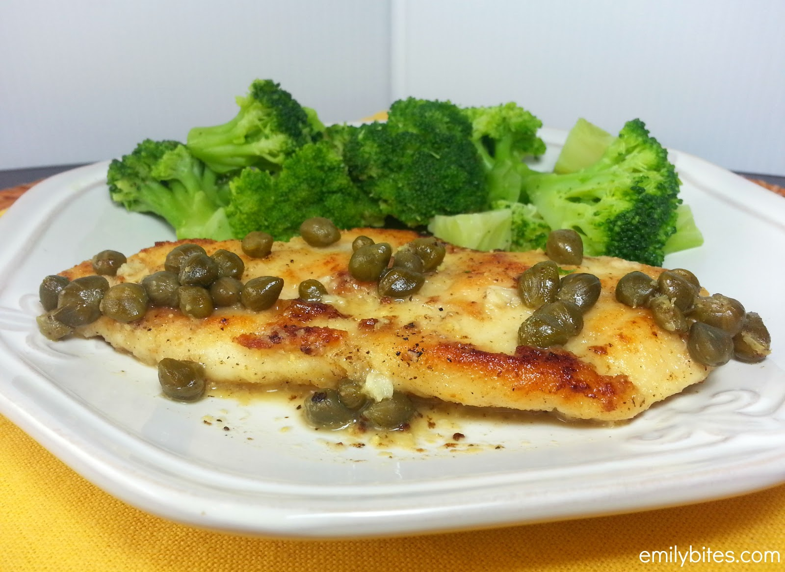 ... chicken piccata is an italian specialty where chicken breasts are