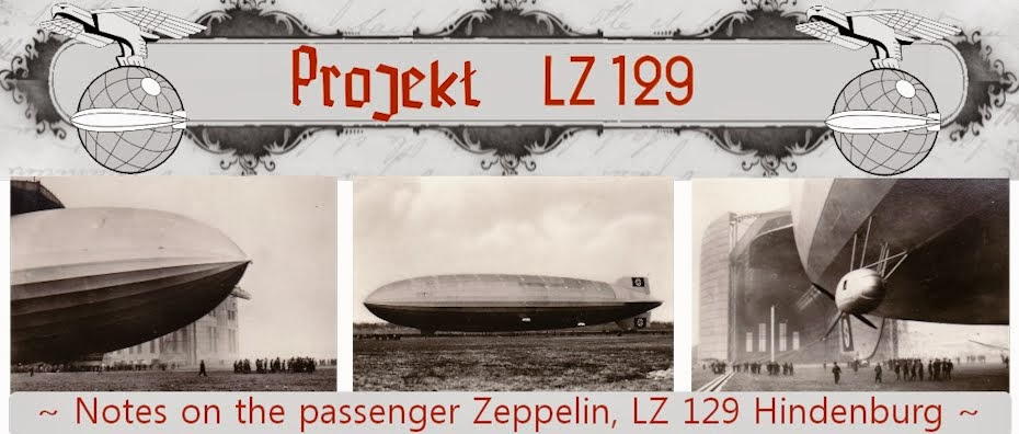 Projekt LZ 129 - Notes on the passenger Zeppelin, LZ 129 Hindenburg