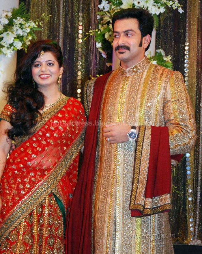 Prithviraj supriya menon wedding reception photos