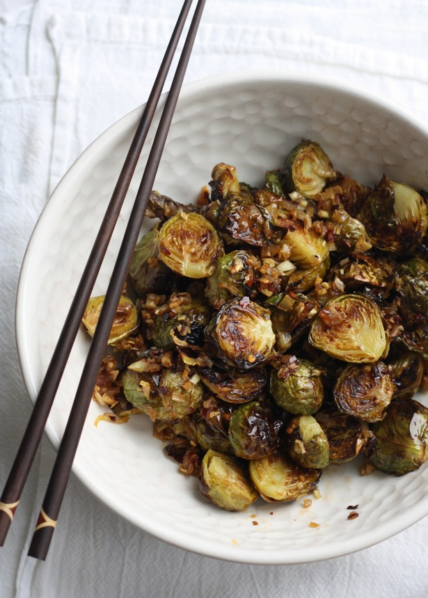 Brussels Sprouts with Spicy Lemongrass Sauce by SeasonWithSpice.com
