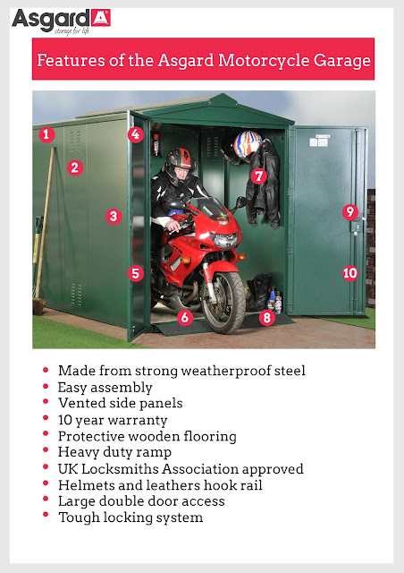 Key features of Asgard Motorcycle Storage units  sc 1 st  Motorcycle Scooters Quad bikes and more & Key features of Asgard Motorcycle Storage units | Motorcycle ...