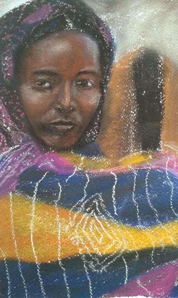 retrato de africana