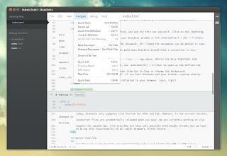 Brackets code editor Ubuntu
