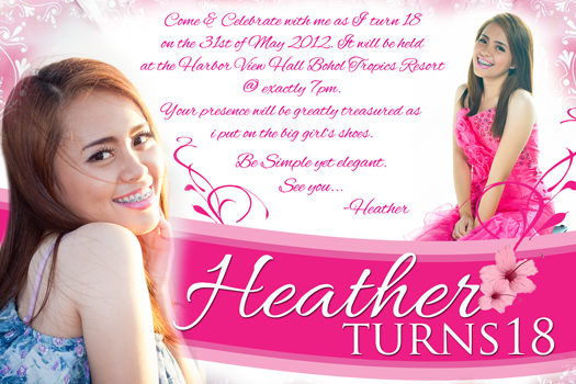 Steven Minds: Heather 18th Birthday Invitation