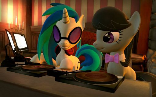 Watching Octavia and Vinyl Scratch work