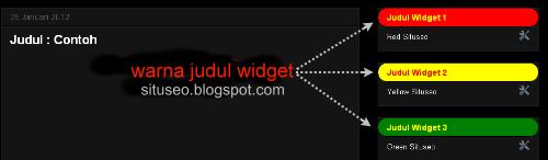 Background berbeda untuk setiap judul widget