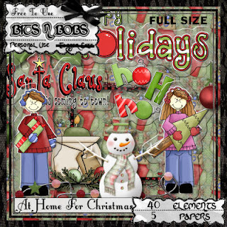 At Home For Christmas - Freebie