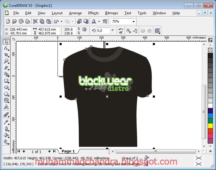 File Belajar Membuat Kaos EXTREME DISTRO T SHIRT DESIGN