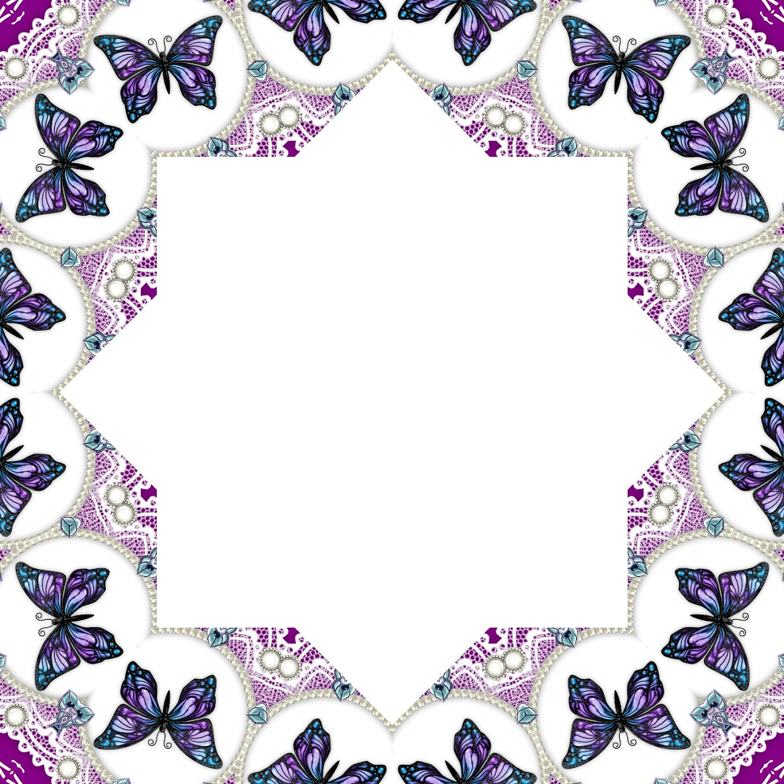 arts and crafts lady free digital download pretty butterfly frame